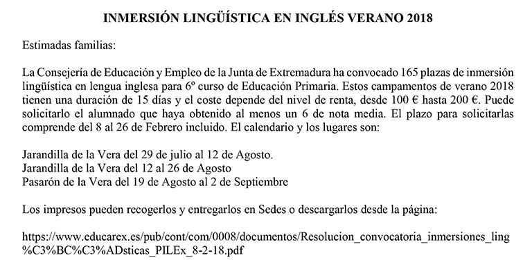 inmersion ingles